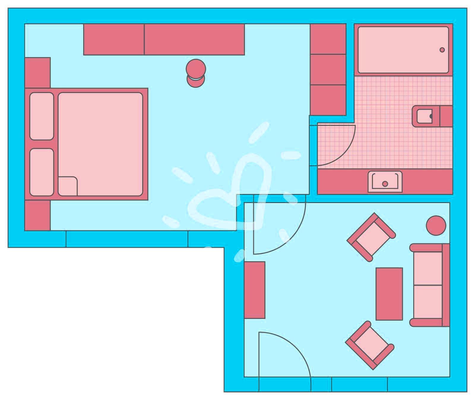 Doppelzimmer Superior im Familienblock