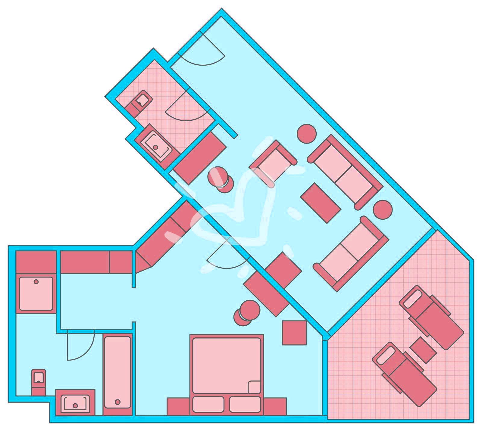 Suite im Haupthaus mit Meerblick/ Poolblick Typ 2